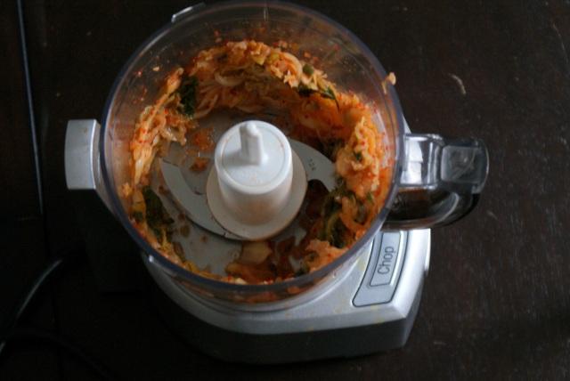 Kimchi latkes